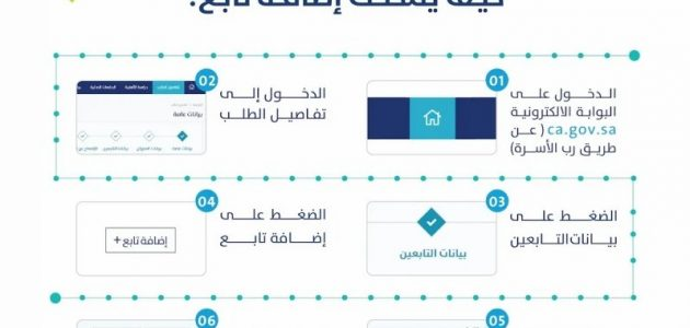 طريقة إضافة تابع إلى حساب المواطن